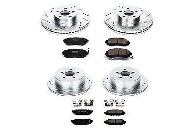 Disc Brake Pad and Rotor Kit Front Rear POWER STOP fits 05-09 Subaru Outback
