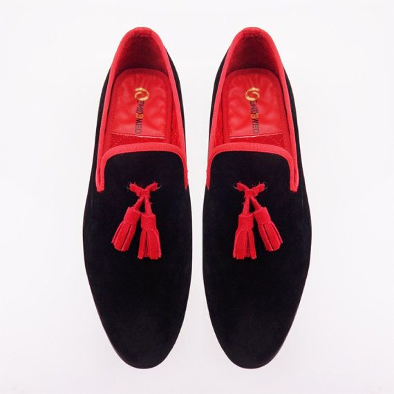 Óendowed Men's Hand made Prince Albert  Slipper Velvet by Oendowed, $170.00