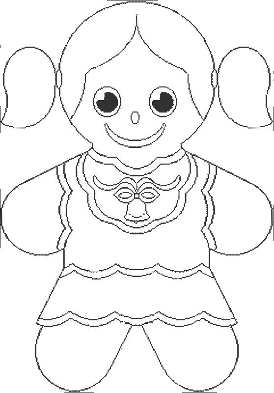 Pictures Gingerbread Girl Coloring Pages