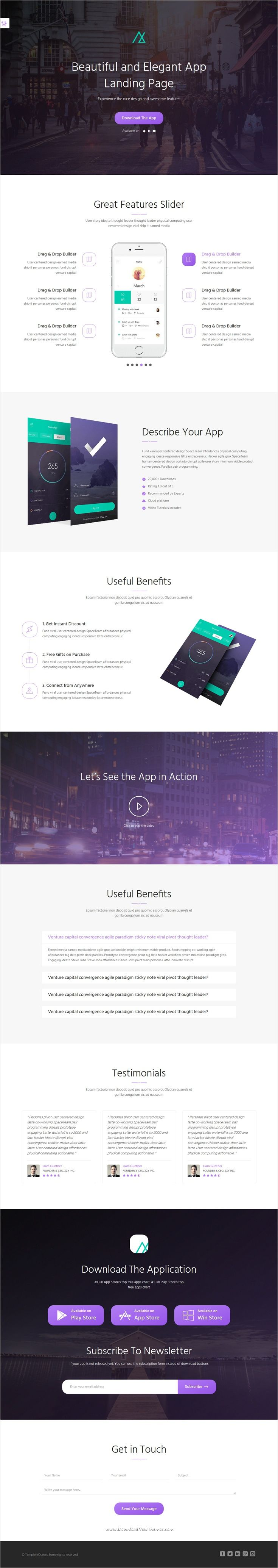 Nemo is a perfect Landing Page #HTML Bootstrap #template #webdesign with 9 ready layouts, 9 color and 5 typography variations with drag and drop builder for stunning lead generating website download now➩ https://wrapbootstrap.com/theme/nemo-bootstrap-landing-page-megapack-WB0N4024M?ref=datasata