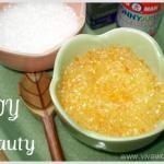 DIY Beauty: homemade salt bath scrub