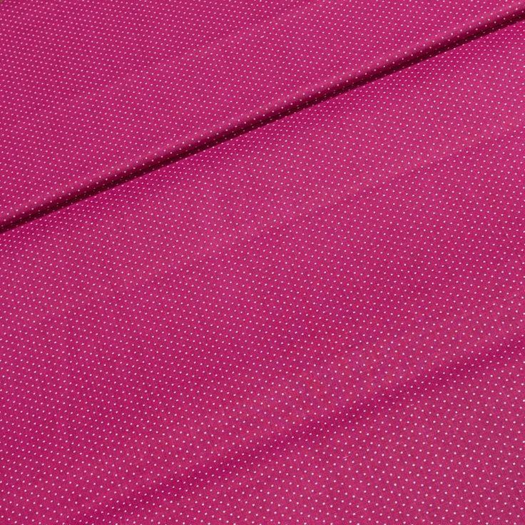 Bavlněné plátno 7284 FUXIA bílý puntík na růžové, š.140cm (látka v metráži) | Internetový obchod Chci Látky.cz
