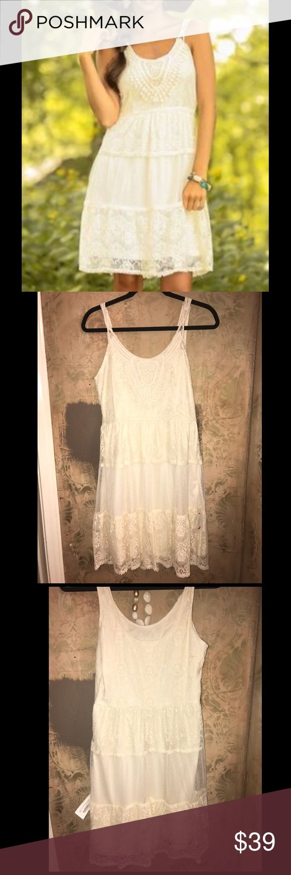 NWT - Lace Dress from Red Dress Boutique Size Medium Red Dress Boutique  New with Tags Lined (100% Polyester Liner) Shell: 65% Cotton, 35% Nylon Beautiful Lace Detail Dresses