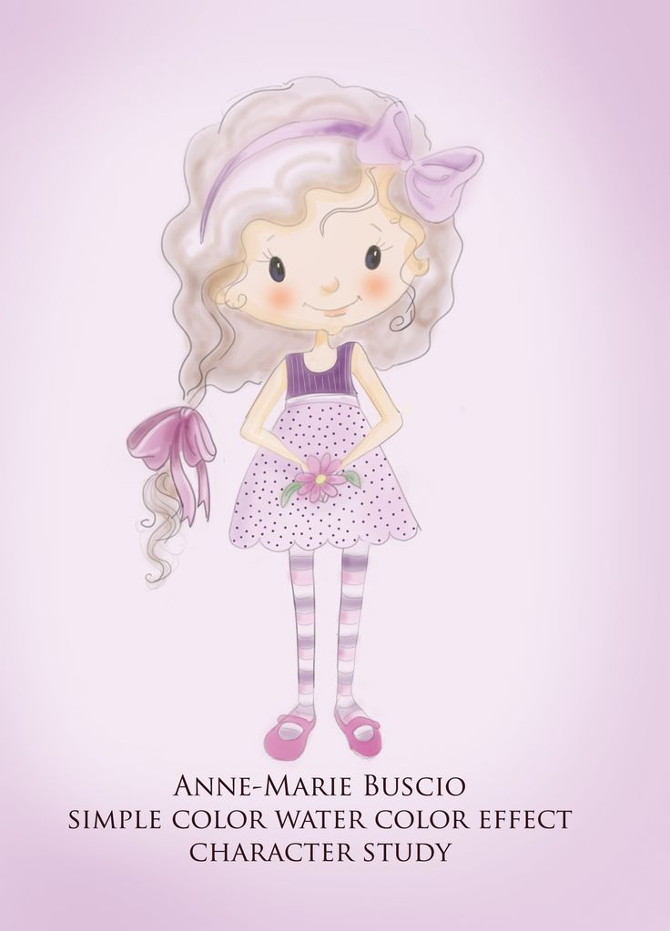 Character study for a book I am writing.  Needed an uncomplicated, simple character and method so that I can actually illustrate the book faster. Sketch done in pencil - the rest is all digital. Anne-Marie Buscio  #little girl drawing #little girl illustration #children's illustration #illustration #digital art #childrens picture book illustration #children illustrator #Anne-Marie Buscio #www.childrenillustrator.com
