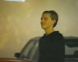 Leonardo DiCaprio... Wearing a headband... Karate kicking a car? I don't care tho I still love him.