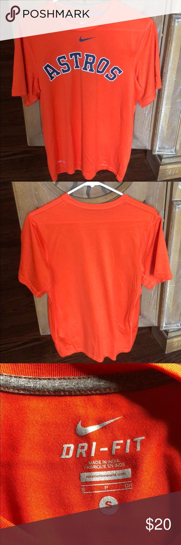 Nike Houston Astros Men's Small Dri-Fit Great condition Nike Shirts Tees - Short Sleeve