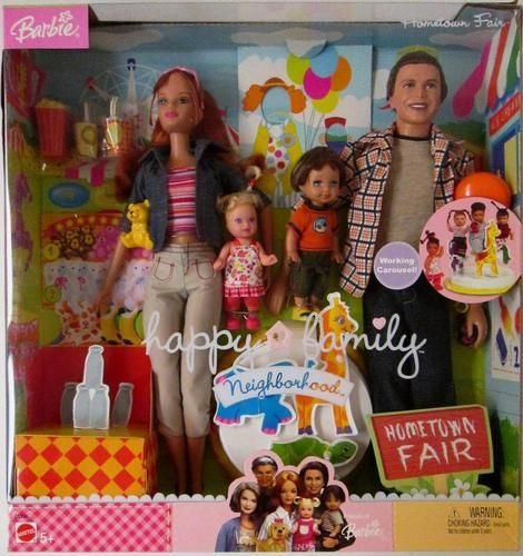 Barbie Happy Family Neighborhood Hometown Fair Gift Set New | eBay