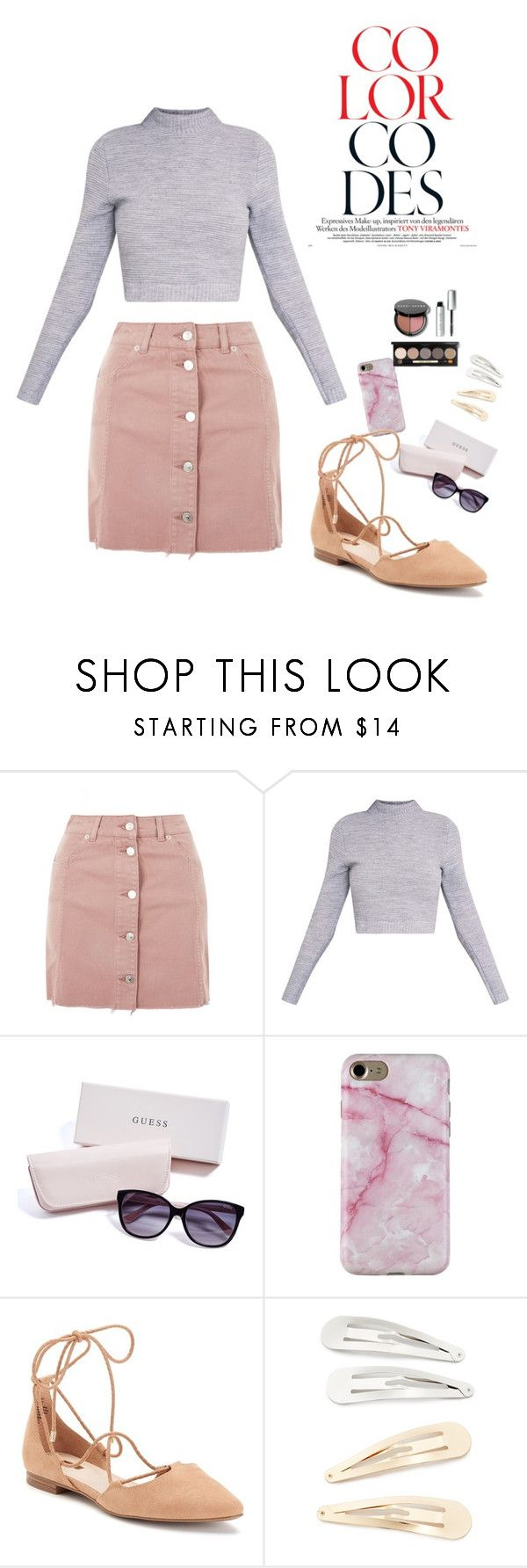 """""""Color Codes"""" by baackehope-1 on Polyvore featuring Topshop, GUESS, Jennifer Lopez, Kitsch and Bobbi Brown Cosmetics"""