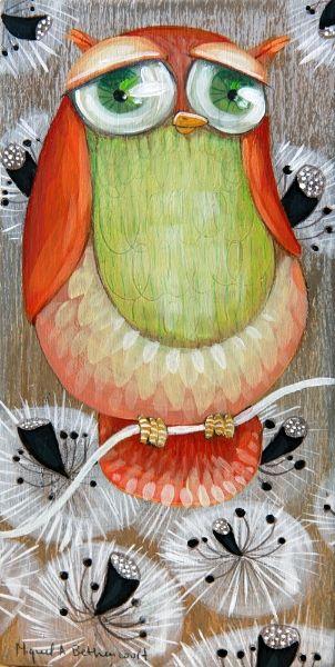 Owl illustration - Ilustración Búho - By Miguel Ángel Bethencourt