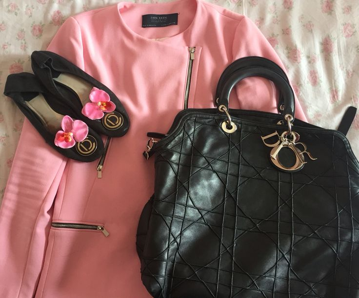 pink&black outfit