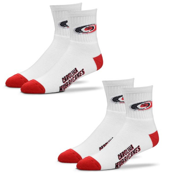 Carolina Hurricanes For Bare Feet Women's 2-Pack Quarter-Length Socks - $19.99