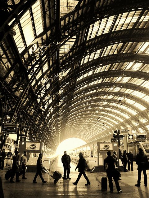 Central Station, Milan, Italy By Olga G. - Go there and get the feeling of travel for getting to know the world better...