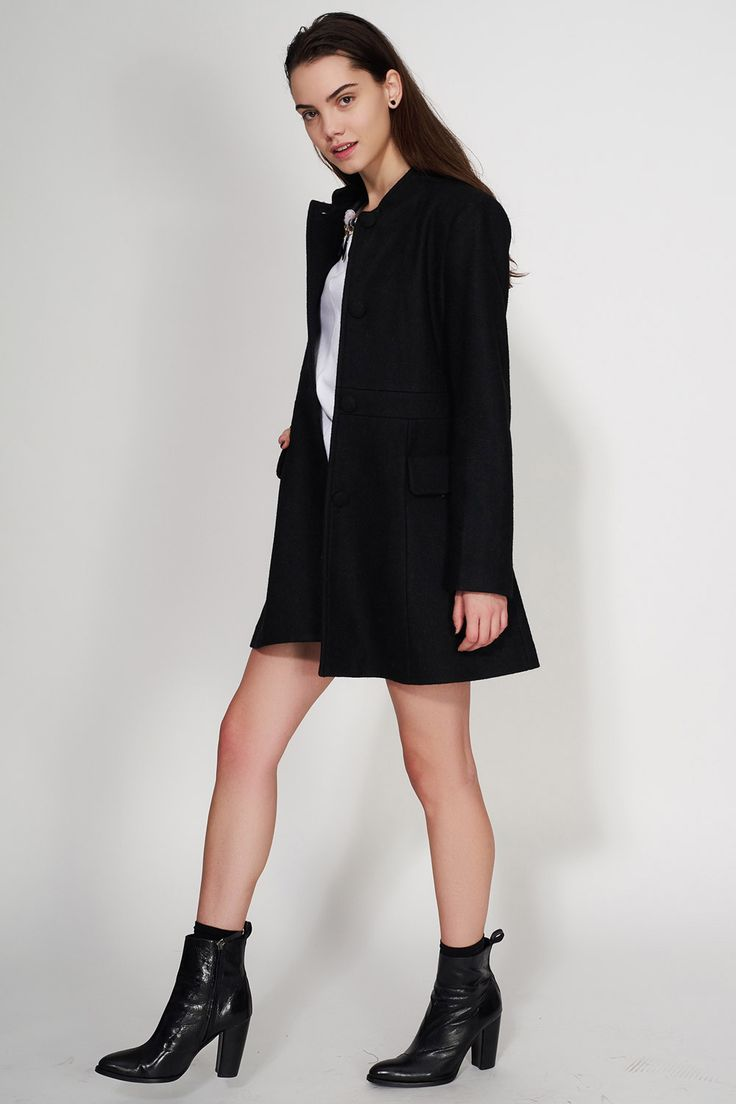 KLING - BLACK PARIS COAT #Ozonboutique #paris #coat #kling #fashion #women