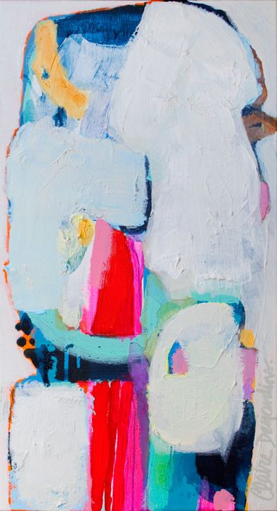 Again - original acrylic abstract painting by Claire Desjardins