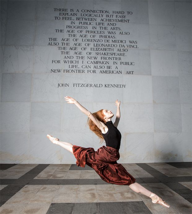 The Suzanne Farrell Ballet 2016 at the Kennedy Center with a quotation from John F. Kennedy.