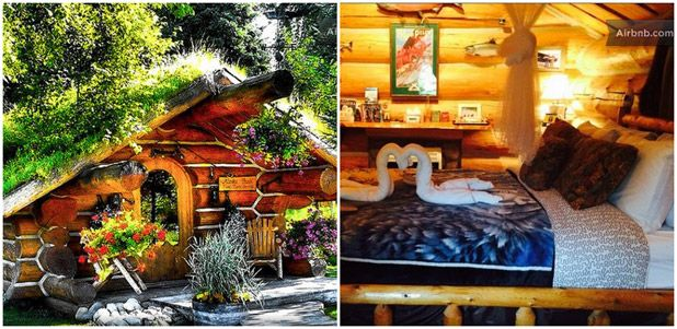 For a whimsical evening, make a getaway to the aptly-named Hobbit House in Alaska.