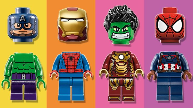 Wrong Heads Lego The Avengers 2 Superhero Parody Finger Family Nursery R...
