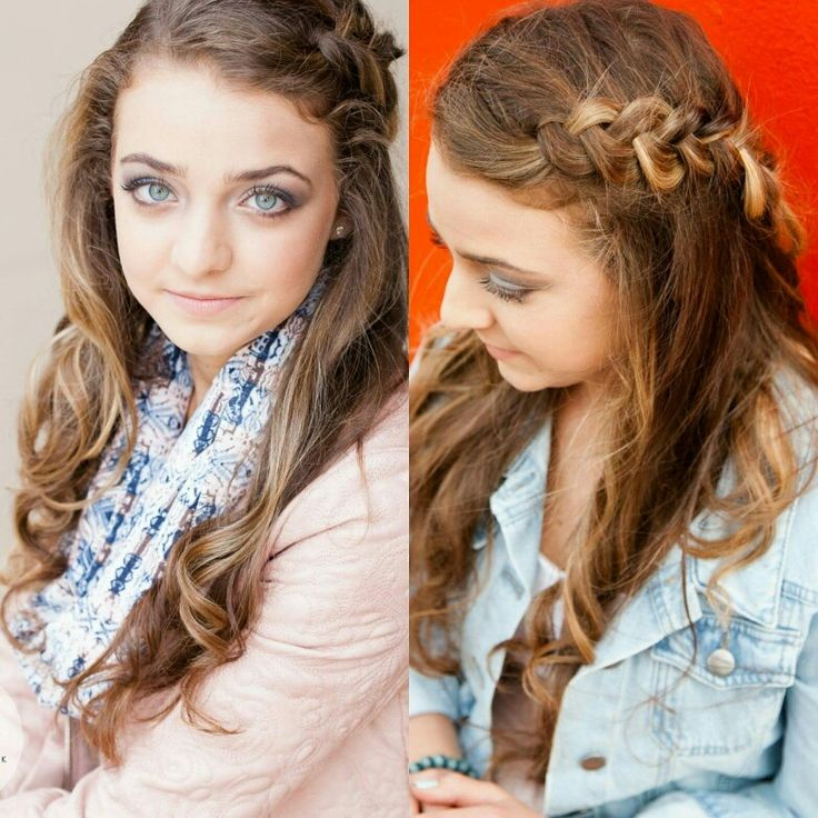 Braids and curls are soft and sweet. Make-up and hair by me,  Esmerie  www.elpmakemeup.com