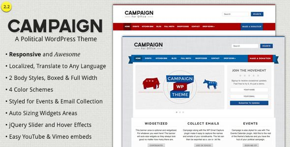 Campaign - Political WordPress Theme