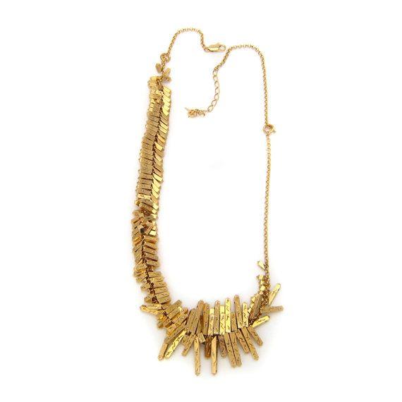 Collier ajustable en métal doré et cristaux Swarovski en vente sur mon e-shop Etsy 160€ ©VisionOfJewels by ThierryRégnier