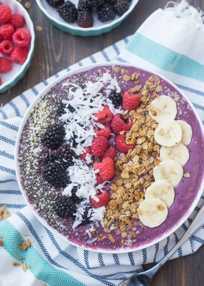 Easy, smooth and creamy Coconut Berry Smoothie Bowls perfect for breakfast or a healthy treat!