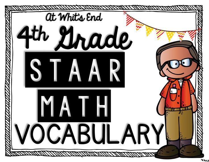 Math STAAR Vocabulary, 4th grade math STAAR