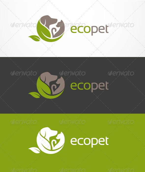 EcoPet Logo #GraphicRiver EcoPet logo template is a nice and clear logo design for your business, nonprofit organizations, etc. Logo available in EPS and AI Illustrator. Font and colors are easy to costumize. Font used Sansation. Thanks. Update: Added PSD file Created: 27October11