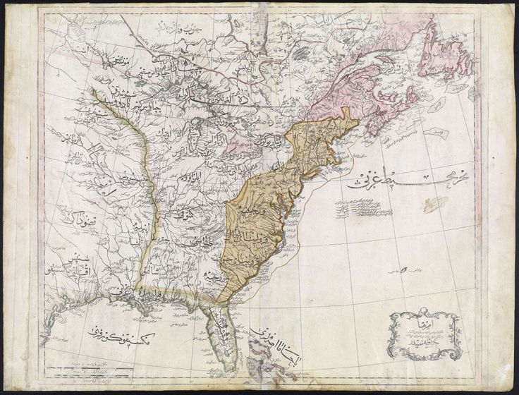 42 best interesting maps from history images on pinterest maps classicpics an incredible ottoman map of the united states from includes state names native american tribes in the west gumiabroncs Images