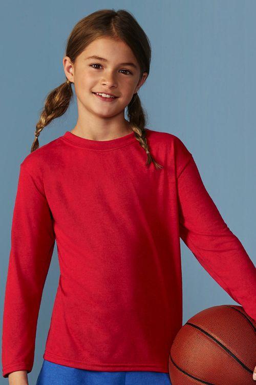 Tricou de copii cu mânecă lungă Performance Gildan 100% poliester tricot jerseu #tricouri #sport #personalizate #prmotionale #copii