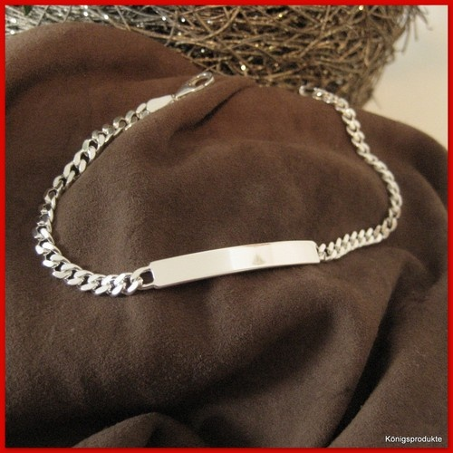 Identitätsarmband, 925er Silber ID Armband mit Gravur. 19 oder 21cm, NEU - ID#01 | eBay