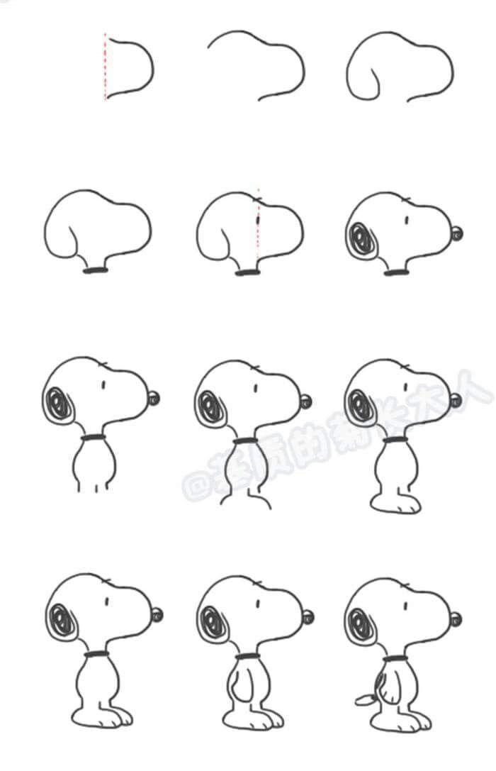 Zeichne Snoopy aus den Erdnüssen Zeichne Snoopy aus den … – #Draw #Peanuts #Snoopy # …