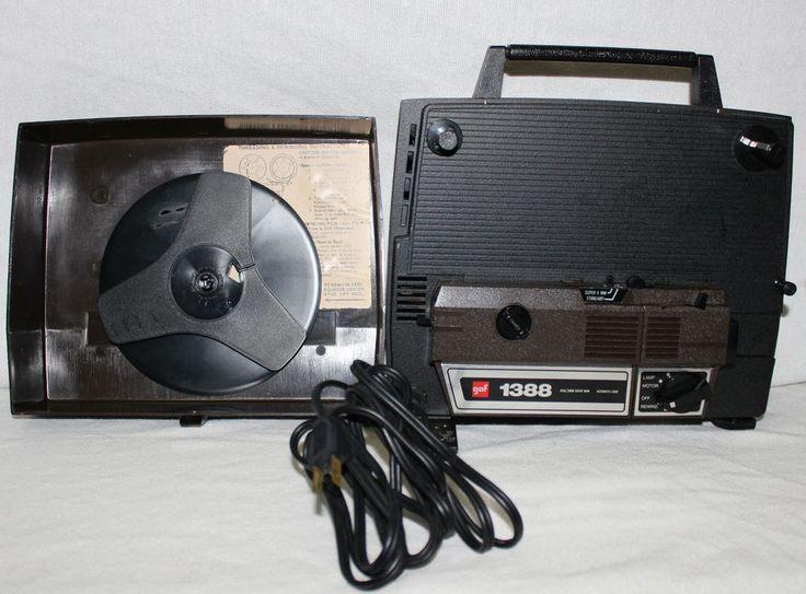 Gaf 1388 vintage super dual 8mm movie projector tested
