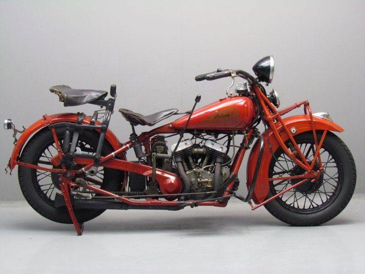 Nice B*tch Seat!   Indian 1932 Standard Scout 750cc 2 cyl sv