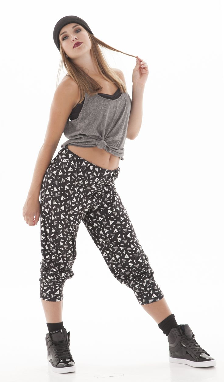 U0026quot;LOUDu0026quot; crazy retro pants for hip hop. Tie up the top and make it edgy. Hip hop outfits. Dance ...