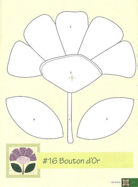 flower applique pattern-aplicacion