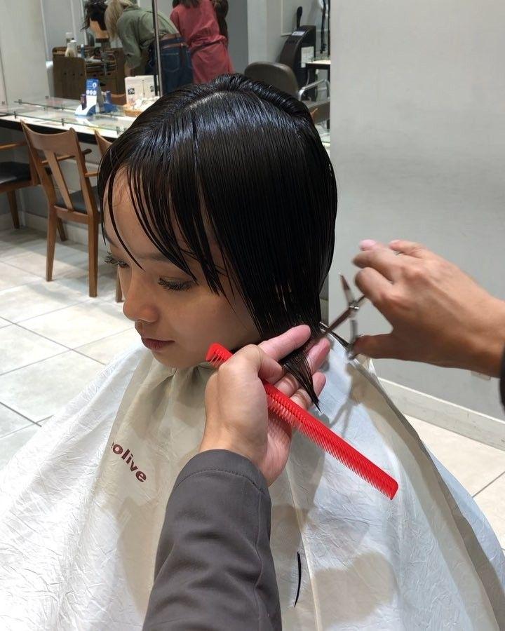 Ryoさんはinstagramを利用しています デザインで人を美しくする カット ボブ バッサリカット ショートヘア マリ