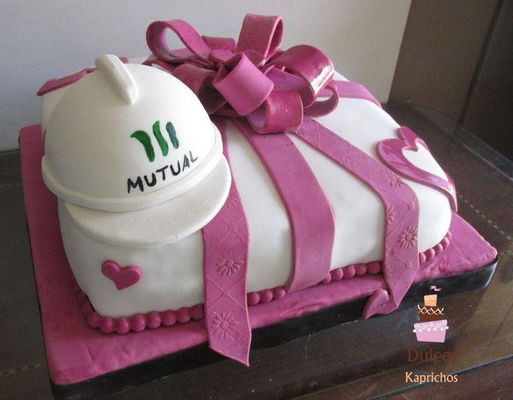 Torta Ingeniero Prevencionista Riesgos #TortaPrevencionistaRiesgos #TortasDecoradas #DulcesKaprichos
