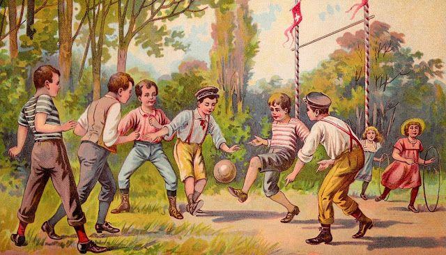 Paperesse: Free vintage soccer image