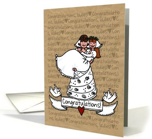 Congratulations on Wedding Cards for Gay Couples
