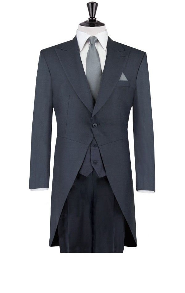 2014  New Custom made Grey morning coat wedding suits for mens 4 pieces suits (jacket+Pants+vest+tie)CM7283 $259.00