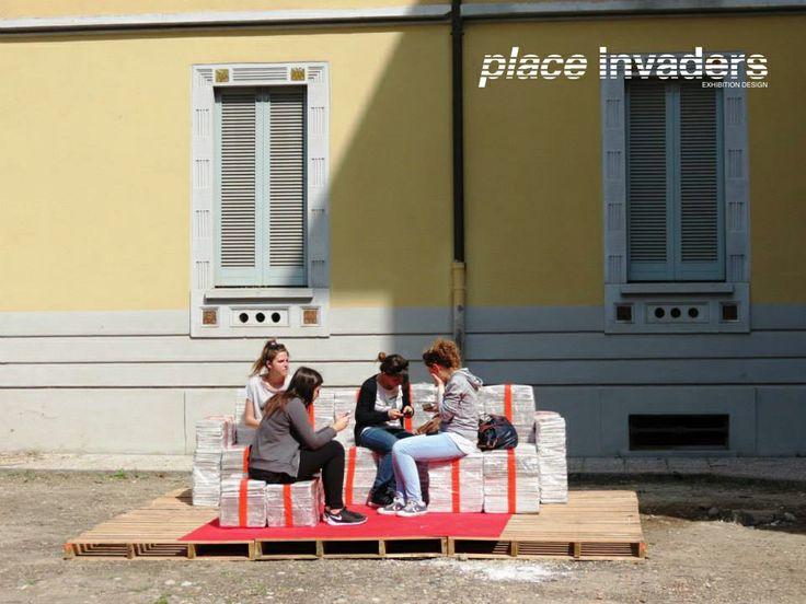 """Mostra """"Vuoti a Rendere"""".  Milano   Fuorisalone 2014   via Solari 40   9-13 aprile. www.placeinvaders.net"""