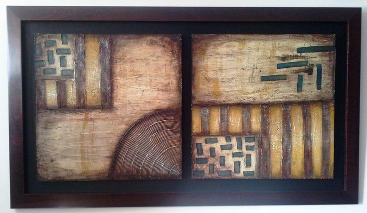 Abstracto...texturas y acrilicos