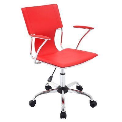 Orren Ellis Beekman Place Ergonomic Office Chair Color: Red #ergonomicofficechairfurniture