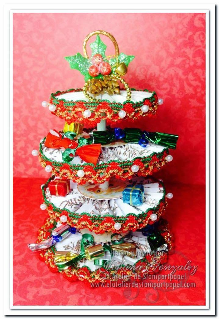 Arbol navideño Rosetones