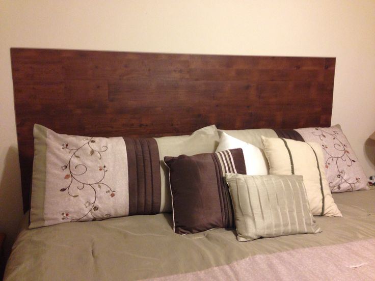 Head Board Made Out Of Peel And Stick Hard Wood Tile So Easy And