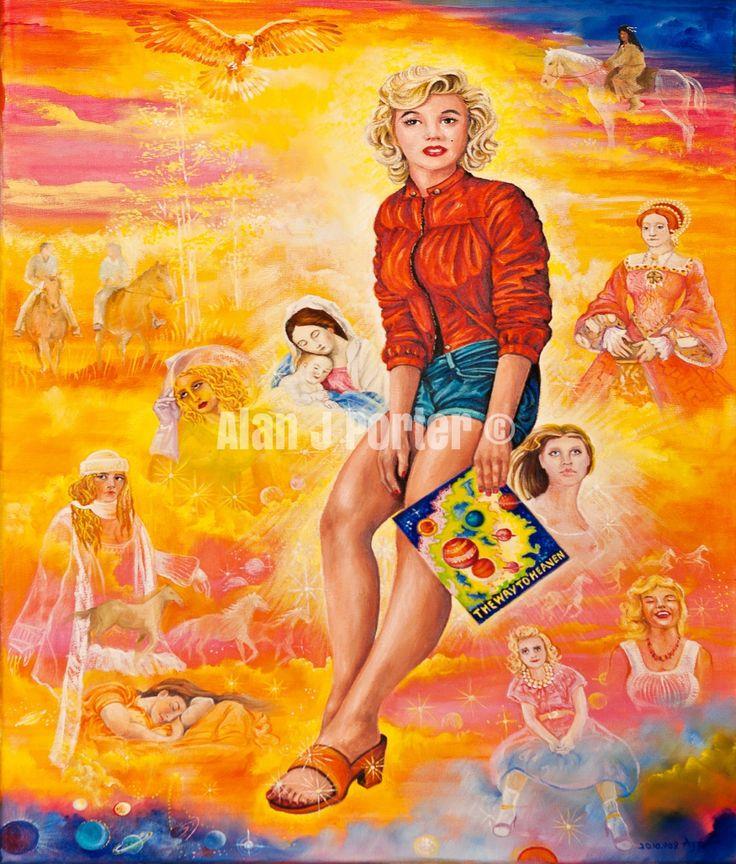 #love #alanjporterart #kompas #art #marilyn #monroe #normajean #painting #beautifulcolors #women #originaldesign
