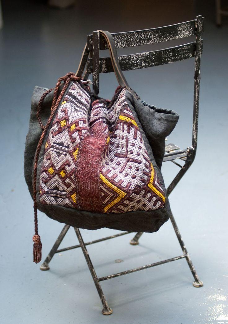 ☯☮ॐ American Hippie Bohemian Style ~ Boho Bag, Leather Tribal Textile