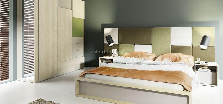 Cechy i korzyści  Prostokątny zagłówek do montażu na ścianie nad łóżkiem, uzupełnienie kolekcji 3D by VOX. Tkanina łatwa do utrzymania w czystości. Zobacz 2 dodatkowe kolory - champagne i olive. Zagłówek dostępny w kształcie prostokąta i kwadratu.  Kolor  brąz         Wymiary  Szerokość 44,5 - 88,5 cm Głębokość 5 cm Wysokość 44,5 cm   Materiał   Tkanina