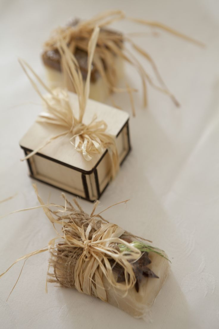 Natural soap in wood box to impress your quest