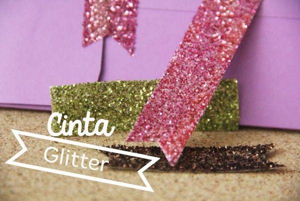 Cinta Glitter para decorar.